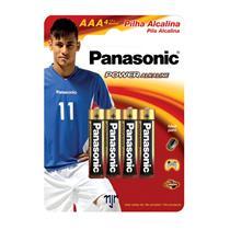 Pilha Alcalina AAA com 4 Unidades - Panasonic