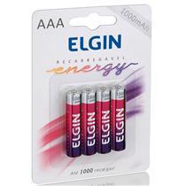 Pilha Recarregável AAA Energy 1000 mAh Com 4 Unidades Elgin